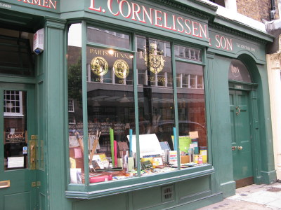 L. Cornelissen Shop Front in Great Russell Street Bloomsbury London