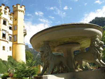 Lion Fountain of Hohenschwangau Bavaria