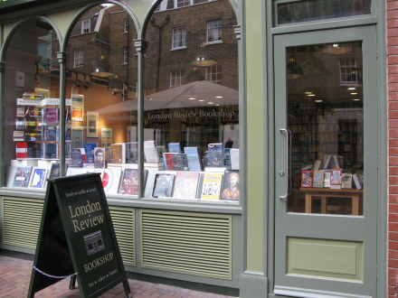 London Review Bookshop in Bloomsbury London