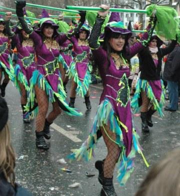 Mainz Carnival Parade Baton Troop