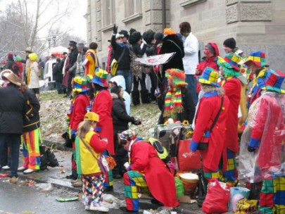 Mainz Carnival Parade Clown Family