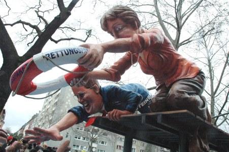 Mainz Carnival Parade Rosenmontag Financial Bailout