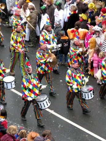 Mainz Carnival Parade Rosenmontag clown band