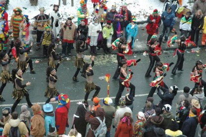 Mainz Carnival Parade strutting baton troop