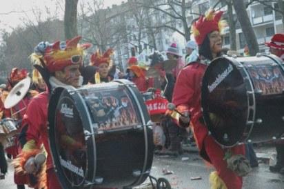 Mainz Carnival Parade Swiss band