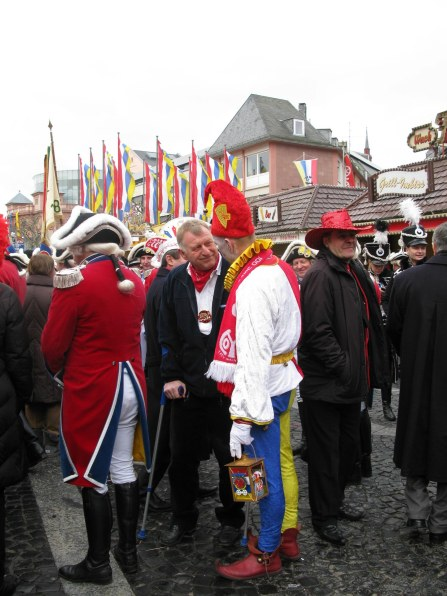 Mainz Carnival Sunday Bajass jester with friend