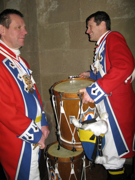 Mainz Carnival Sunday drums in cathedral