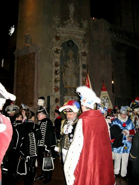Mainz Carnival Sunday in cathedral