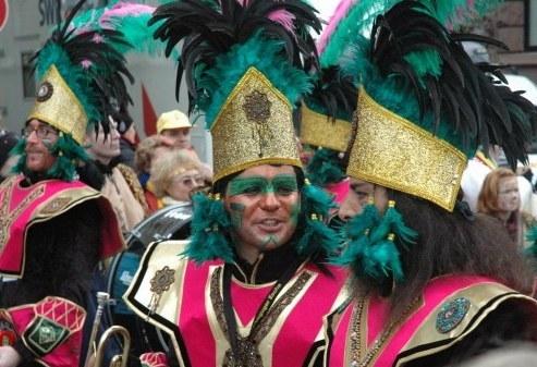 Mainz Fastnacht Aztec costumes