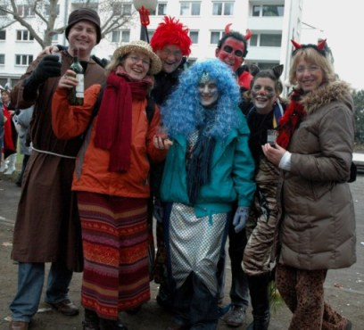 Mainz Germany Carnival parade new friends