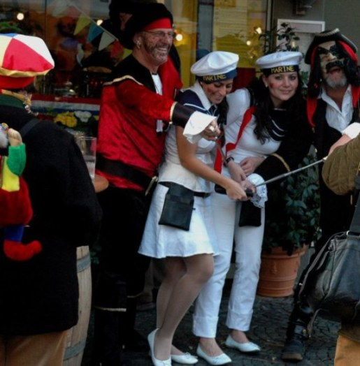 Mainz Germany Carnival taking sailors hostage