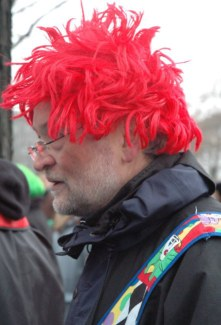 Mainz Germany Carnival wigged clown