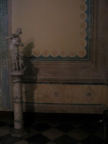 Marble statue Palacio Cantero Trinidad de Cuba