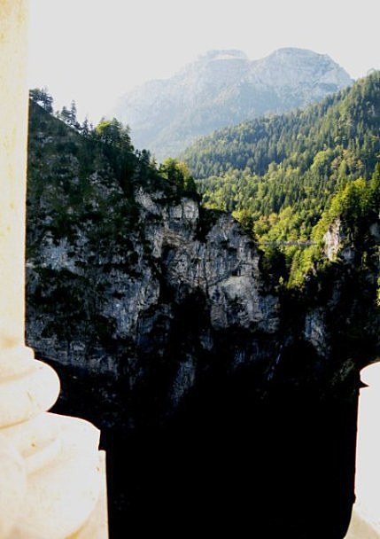 View of the Marienbrücke from Neuschwanstein