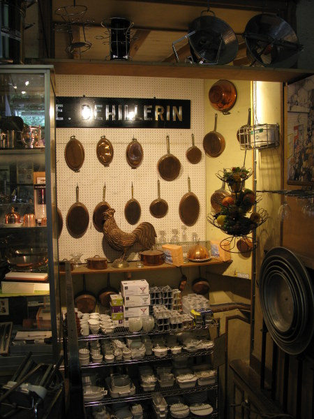 Moulds in the Dehillerin shop for cooks in Paris