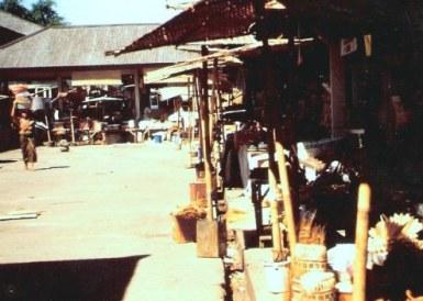 Mountain village market in Bali