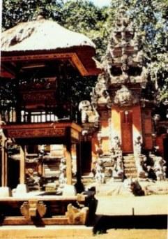 Mountain village temple in Bali
