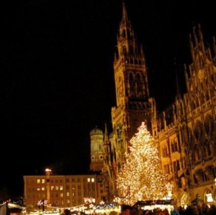 Munich Christmas Market night time