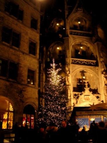 Munich Christmas Market nativity crib in courtyard
