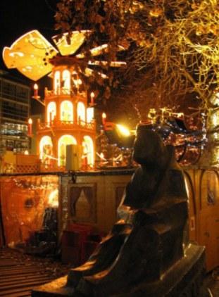 Munich Christmas Market Rindermarkt Square shepherd