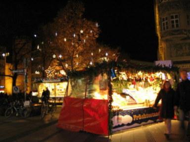 Munich Christmas Market Rindermarkt Square