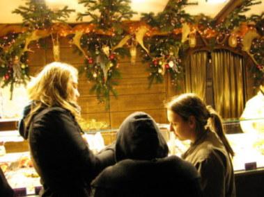 Munich Christmas Market enjoying something sweet