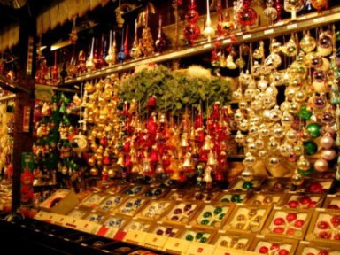 Munich Christmas Market glass baubles and bells