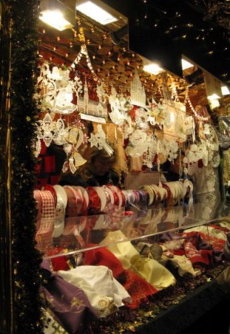 Munich Christmas Market ribbon and lace