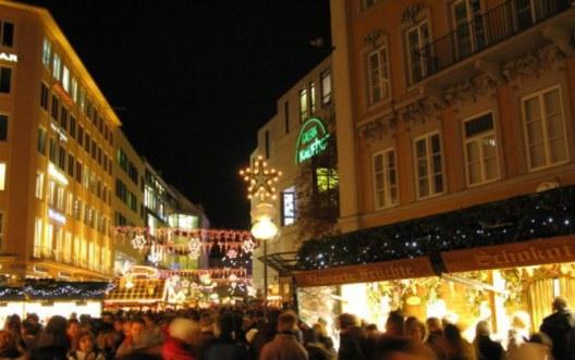 Munich Christmas Market crowded streets