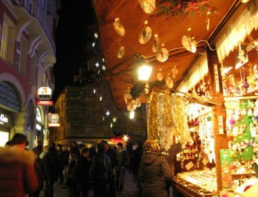 Munich Christmas Market streets and stalls
