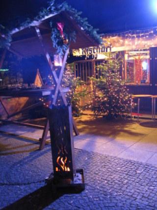 Munich Christmas Market restaurant terrace smoke