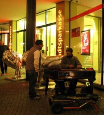 Munich Christmas Market street musician