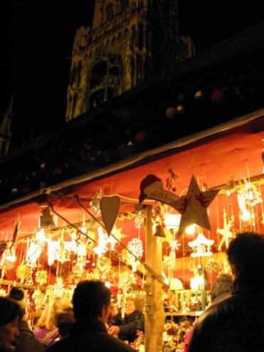 Munich Christmas Market wooden ornaments