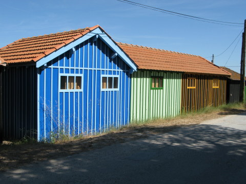 Île d'Oléron colourful oyster shacks