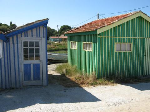 Île d'Oléron painted oyster houses