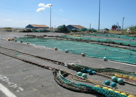 Île d'Oléron port of La Cotinière fishing nets and buoys