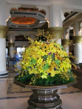 Orchids in entrance - Emirates Palace Hotel Abu Dhabi
