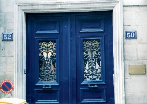Paris door with metal detail