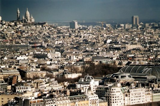 View of Sacre Couer from Notre Dame Paris