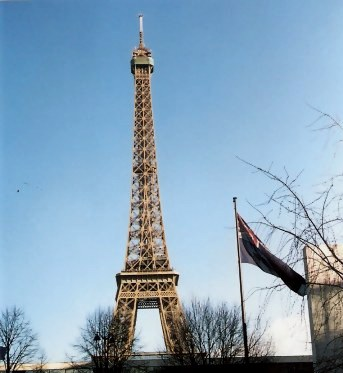 Eiffel Tower Paris with Australian Flag