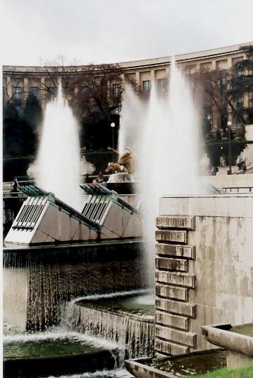 Fountains in Trocadéro Gardens Paris