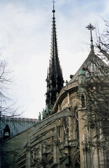 Flying Buttreses Notre Dame Cathedral Paris