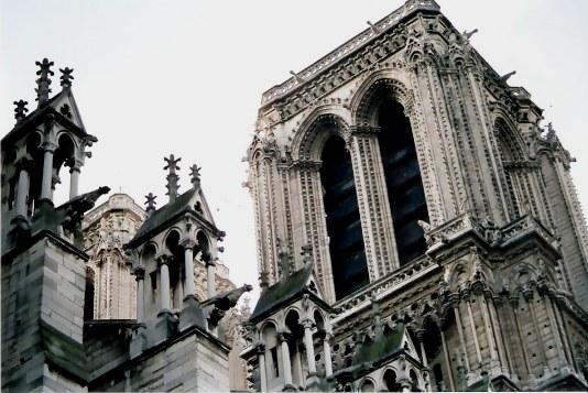 Paris Notre Dame Tower detail