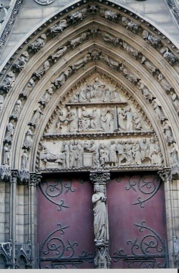 Elegant Doors in Paris Notre Dame Cathedral