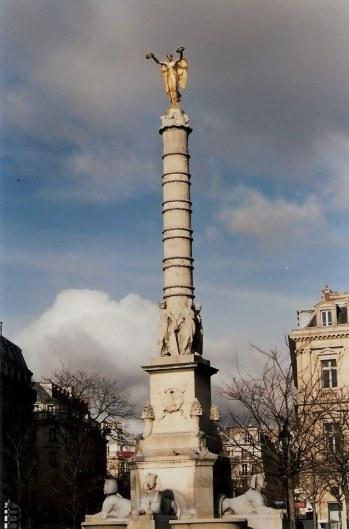 Angel atop Palmier Fountain Place du Chatelet, Paris
