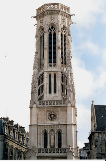 Paris Church of Saint-Germain-l'Auxerrois Clock Tower