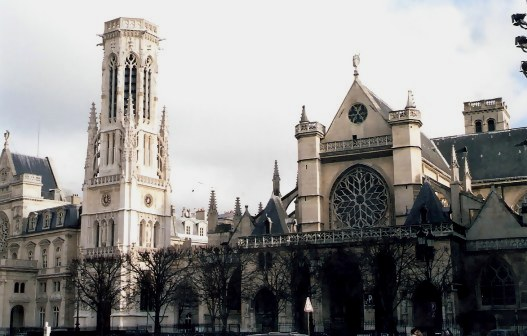 Mixed architectural styles of  Paris Church of Saint-Germain-l'Auxerrois