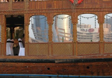 Party dhow interior Dubai Creek