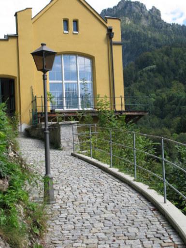 Path to chapel of Hohenschwangau Castle Bavaria