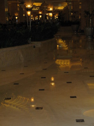 Pathway of reflected light in lobby -Emirates Palace Hotel Abu Dhabi